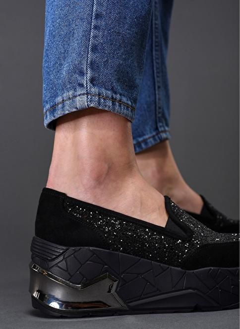 Bambi Dolgu Topuklu Ayakkabı Siyah
